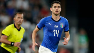 TURIN, ITALY - JUNE 4: Jorge Luis Frello Jorginho of Italy  during the  International Friendly match between Italy  v Holland  at the Allianz Stadium on June 4, 2018 in Turin Italy (Photo by Eric Verhoeven/Soccrates/Getty Images)