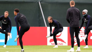 during the England training session at the Stadium Spartak Zelenogorsk on July 2, 2018 in Saint Petersburg, Russia.