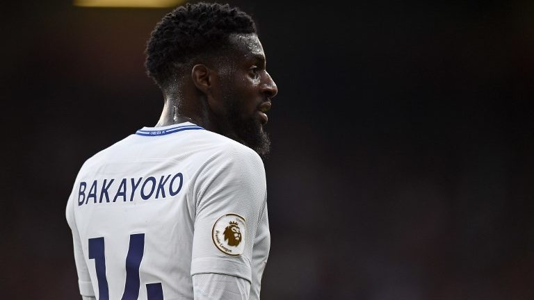 Chelsea's French midfielder Tiemoue Bakayoko looks on during the English Premier League football match between Burnley and Chelsea at Turf Moor in Burnley, north west England on April 19, 2018. / AFP PHOTO / Oli SCARFF / RESTRICTED TO EDITORIAL USE. No use with unauthorized audio, video, data, fixture lists, club/league logos or 'live' services. Online in-match use limited to 75 images, no video emulation. No use in betting, games or single club/league/player publications.  /