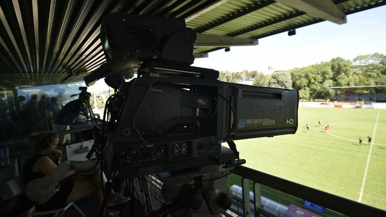 A camera pictured at a soccer game between Tubize and Beerschot-Wilrijk, in Tubize, Sunday 05 August 2018, on the first day of the division 1B Proximus League competition of the Belgian soccer championship. BELGA PHOTO JOHN THYS