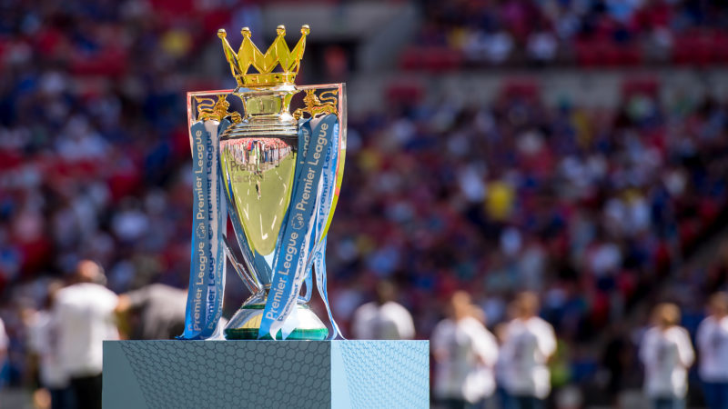 The Premier League Trophy is on display during the FA Community Shield match between Chelsea and Manchester City at Wembley Stadium, London, England on August 5, 2018, photo Salvio Calabrese/UKSP / SpainDPPI / DPPI