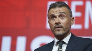 Spain  new coach Luis Enrique talks to the press during his official presentation as Spain's national football team new coach on July 19, 2018 at Las Rozas de Madrid sports city.  (Photo by Oscar Gonzalez/NurPhoto)