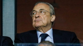 Real Madrid President Florentino Perez during the UEFA Super Cup match between Real Madrid and Atletico Madrid on August 15, 2018 at Lillekula Stadium in Tallinn, Estonia. (Photo by Mike Kireev/NurPhoto)