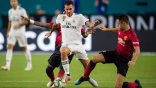 MIAMI, FL - JULY 31: Dani Ceballos #24 of Real Madrid in action during the International Champions Cup match against the Manchester United at Hard Rock Stadium on July 31, 2018 in Miami, Florida. (Photo by Rob Foldy/Getty Images)
