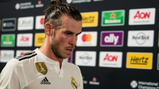 MIAMI, FL - JULY 31: Gareth Bale #11 of Real Madrid walks through the tunnel during halftime of the International Champions Cup match against Manchester United at Hard Rock Stadium on July 31, 2018 in Miami, Florida. (Photo by Rob Foldy/Getty Images)