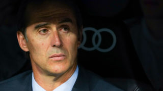 JULEN LOPETEGUI of Real Madrid in action during the Trofeo Santiago Bernabeu match between Real Madrid and AC Milan at Estadio Santiago Bernabeu on August 11, 2018 in Madrid, Spain (Photo by Oscar Gonzalez/NurPhoto via Getty Images)