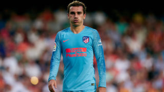 Antoine Griezmann of Atletico de Madrid reacts on during the La Liga match between Valencia CF and Club Atletico de Madrid at Mestalla on August 20, 2018 in Valencia, Spain (Photo by David Aliaga/NurPhoto via Getty Images)