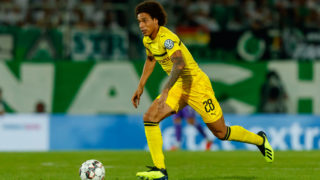 FUERTH, GERMANY - AUGUST 20: Axel Witsel of Dortmund controls the ball during the DFB Cup first round match between Greuther Fuerth and Borussia Dortmund at Sportpark Ronhof Thomas Sommer on August 20, 2018 in Fuerth, Germany. (Photo by TF-Images/Getty Images)