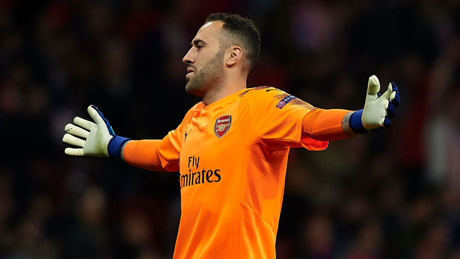 MADRID, SPAIN - MAY 03:Ê David Ospina of Arsenal FC reacts during the UEFA Europa League Semi Final second leg match between Atletico Madrid  and Arsenal FC at Estadio Wanda Metropolitano on May 3, 2018 in Madrid, Spain. (Photo by Quality Sport Images/Getty Images)