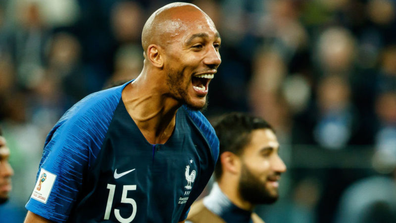 SAINT PETERSBURG, RUSSIA - JULY 10: Steven Nzonzi of France celebrates after winning the 2018 FIFA World Cup Russia Semi Final match between France and Belgium at Saint Petersburg Stadium on July 10, 2018 in Saint Petersburg, Russia. (Photo by TF-Images/Getty Images)