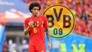 PHOTOMONTAGE. The commitment of Axel Witsel is still in the balance. Announcements, after which the Belgian national player already today, Monday, for medical check up in Dortmund, were apparently frozen. BVB continues to fight for the center. The alleged exit clause could be the sticking point. No.1 archive photo: Axel WITSEL (BEL), skeptical, gesture, action, single image, single cut motive, half figure, half figure. Belgium (BEL) - Panama (PAN) 3-0, Preliminary Round, Group G, Game 13, on 18.06.2018 in SOCHI, Fisht Olymipic Stadium. Football World Cup 2018 in Russia from 14.06. - 15.07.2018. | Usage worldwide