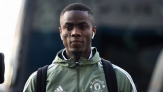 Manchester United's Ivorian defender Eric Bailly arrives ahead of the English FA Cup fifth round football match between Huddersfield Town and Manchester United at the John Smith's stadium in Huddersfield, northern England on February 17, 2018. / AFP PHOTO / Oli SCARFF / RESTRICTED TO EDITORIAL USE. No use with unauthorized audio, video, data, fixture lists, club/league logos or 'live' services. Online in-match use limited to 75 images, no video emulation. No use in betting, games or single club/league/player publications.  /