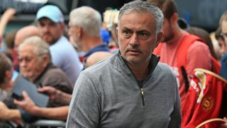 Manchester United's Portuguese manager Jose Mourinho arrives for the English Premier League football match between Burnley and Manchester United at Turf Moor in Burnley, north west England on September 2, 2018. / AFP PHOTO / Lindsey PARNABY / RESTRICTED TO EDITORIAL USE. No use with unauthorized audio, video, data, fixture lists, club/league logos or 'live' services. Online in-match use limited to 120 images. An additional 40 images may be used in extra time. No video emulation. Social media in-match use limited to 120 images. An additional 40 images may be used in extra time. No use in betting publications, games or single club/league/player publications. /