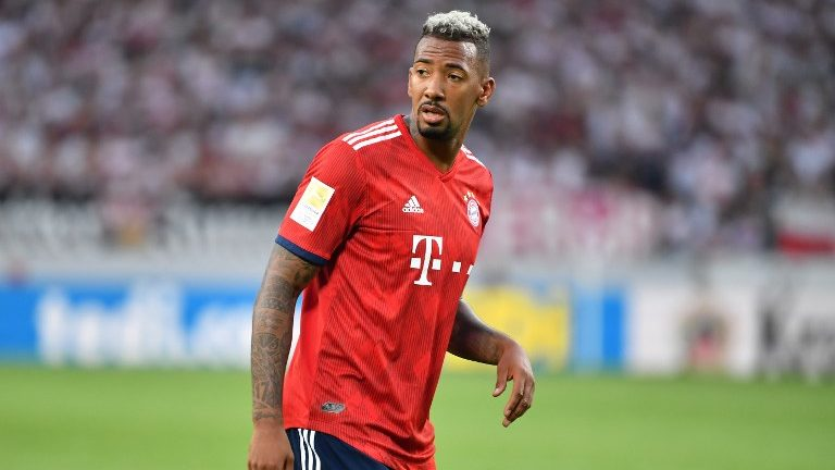Jerome BOATENG (FC Bayern Munich), action, single image, single cut motive, half figure, half figure. Soccer 1. Bundesliga, 2.matchday, matchday02, VfB Stuttgart-Bayern Munich 0-3, on 01/09/2018 in Stuttgart / Germany. MERCEDES BENZ ARENA. DFL REGULATIONS PROHIBIT ANY USE OF PHOTOGRAPH AS IMAGE SEQUENCES AND / OR QUASI VIDEO. | usage worldwide