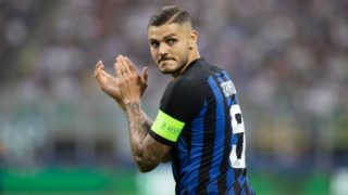 Mauro Icardi of Inter during the UEFA Champions League, Group B football match between FC Internazionale and Tottenham Hotspur on September 18, 2018 at San Siro stadium in Milan, Italy - Photo Morgese - Rossini / DPPI