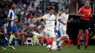 MADRID, SPAIN - SEPTEMBER 22: Luka Modric of Real Madrid in action during the La Liga match between Real Madrid and Espanyol at Santiago Bernabeu Stadium in Madrid, Spain on September 22, 2018.  Burak Akbulut / Anadolu Agency