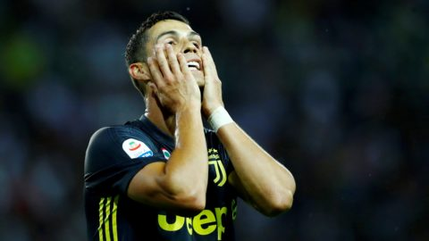 Parma v Juventus - Serie A  Cristiano Ronaldo of Juventus after a missed goal at Ennio Tardini Stadium in Parma, Italy on September 1, 2018 (Photo by Matteo Ciambelli/NurPhoto)