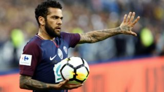 Dani Alves during French Cup final (Coupe de France) between Les Herbiers VF and Paris Saint-Germain (PSG) at Stade de France on May 8, 2018 in Saint-Denis near Paris, France. (Photo by Mehdi Taamallah/NurPhoto)