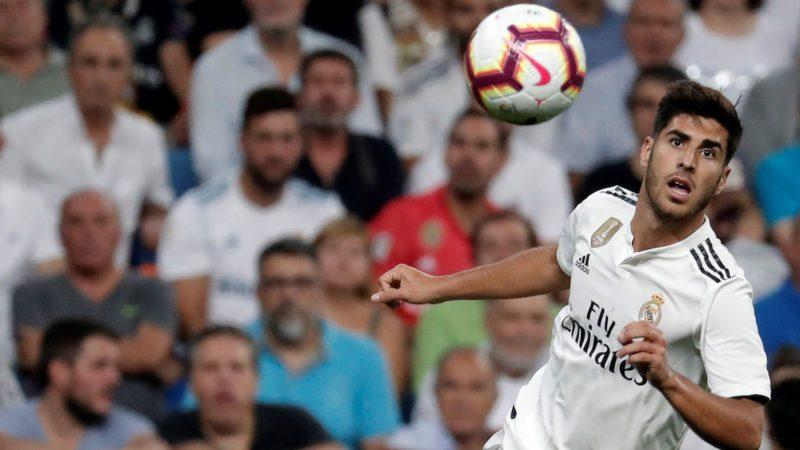 MADRID, SPAIN - SEPTEMBER 22: Marco Asensio of Real Madrid in action during the La Liga match between Real Madrid and Espanyol at Santiago Bernabeu Stadium in Madrid, Spain on September 22, 2018.     Burak Akbulut / Anadolu Agency