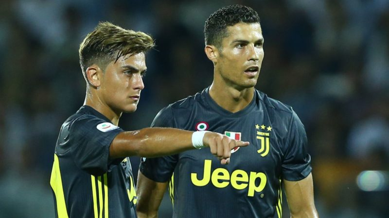Frosinone v Juventus - Serie A  Paulo Dybala and Cristiano Ronaldo of Juventus at Benito Stirpe Stadium in Frosinone, Italy on  September 23, 2018 (Photo by Matteo Ciambelli/NurPhoto)