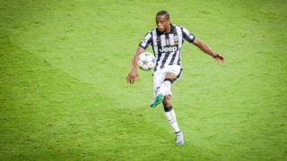 Turin's Patrice Evra during the UEFA Champions League final soccer match between Juventus FC and FC Barcelona at Olympic Stadium in Berlin, Germany, 06 June 2015. Photo: Thomas Eisenhuth/dpa