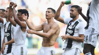 TURIN, ITALY - SEPTEMBER 16:  Cristiano Ronaldo of Juventus celebrates at the end of the serie A match between Juventus and US Sassuolo at Allianz Stadium on September 16, 2018 in Turin, Italy.  (Photo by Claudio Villa./Getty Images)