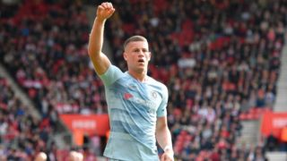 Ross Barkley (8) of Chelsea celebrates scoring a goal to give a 0-2 lead to the away team during the English championship Premier League football match between Southampton and Chelsea on October 7, 2018 at the St Mary's Stadium in Southampton, England - Photo Graham Hunt / ProSportsImages / DPPI