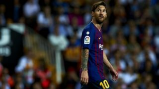 Lionel Messi during the week 8 of La Liga match between Valencia CF and FC Barcelona at Mestalla Stadium in Valencia, Spain on October 7, 2018.  (Photo by Jose Breton/NurPhoto)