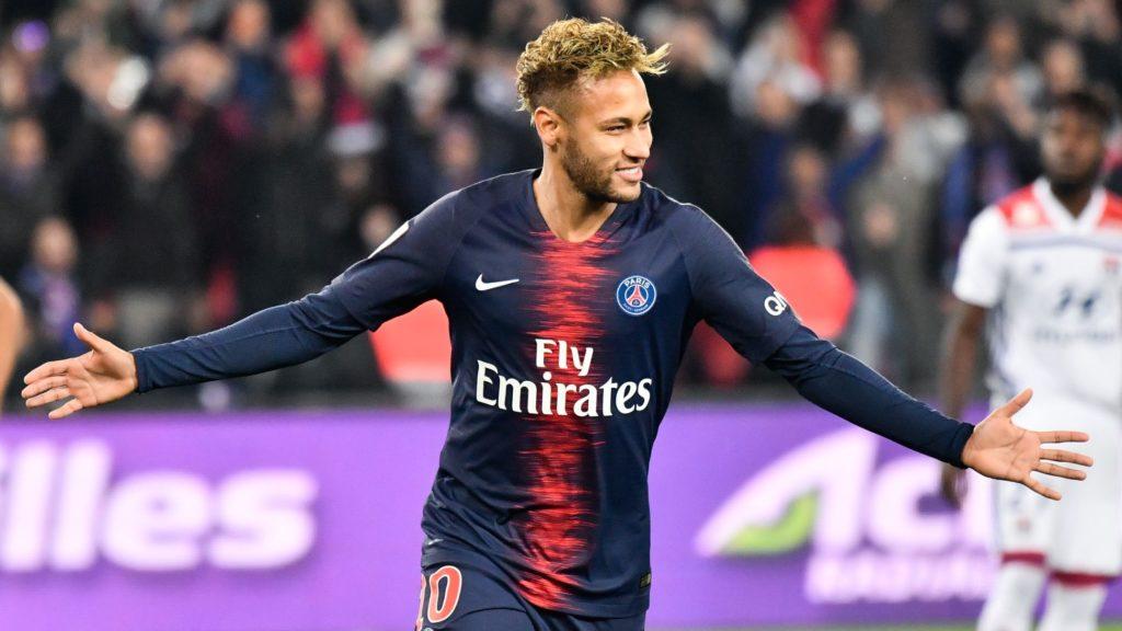 Neymar Jr during the french Ligue 1 match between Paris Saint-Germain (PSG) and Olympique Lyonnais (OL, Lyon) at Parc des Princes stadium on October 7, 2018 in Paris, France. (Photo by Julien Mattia/NurPhoto)