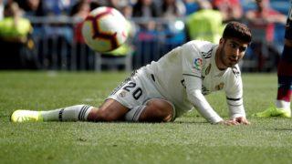 MADRID, SPAIN - OCTOBER 20: Marco Asensio of Real Madrid is seen during the La Liga match between Real Madrid and Levante at the Santiago Bernabeu Stadium in Madrid, Spain on October 20, 2018. Burak Akbulut / Anadolu Agency
