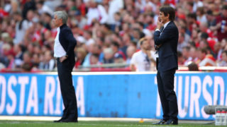 LONDON, ENGLAND - MAY 19:  Chelsea Head Coach / Manager Antonio Conte reacts during the Emirates FA Cup Final between Chelsea and Manchester United at Wembley Stadium on May 19, 2018 in London, England. (Photo by Robbie Jay Barratt - AMA/Getty Images)