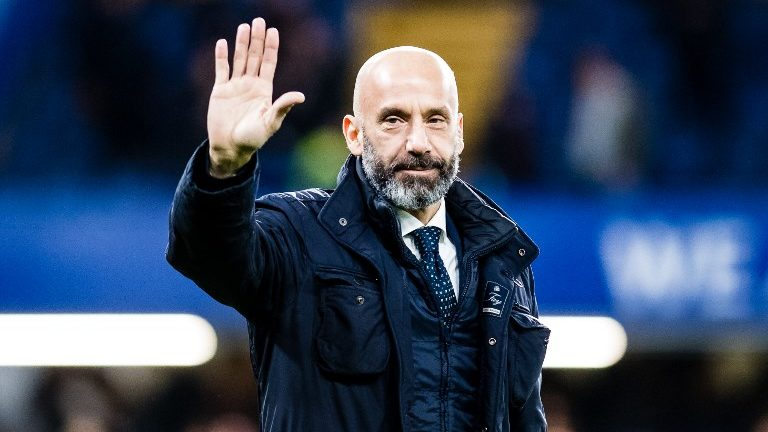 Gianluca Vialli during the English championship Premier League football match between Chelsea and West Bromwich Albion on February 12, 2018 at Stamford Bridge in London, England - Photo Sebastian Frej / ProSportsImages / DPPI
