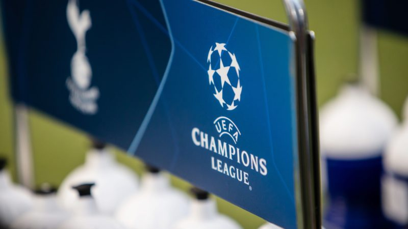 Champions League Logo illustration before the UEFA Champions League, Group B football match between FC Internazionale and Tottenham Hotspur on September 18, 2018 at San Siro stadium in Milan, Italy - Photo Morgese - Rossini / DPPI
