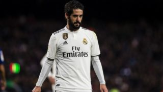 """22 Isco from Spain of Real Madrid during the Spanish championship La Liga football match """"El Classico"""" between FC Barcelona and Real Sociedad on October 28, 2018 at Camp Nou stadium in Barcelona, Spain. (Photo by Xavier Bonilla/NurPhoto)"""