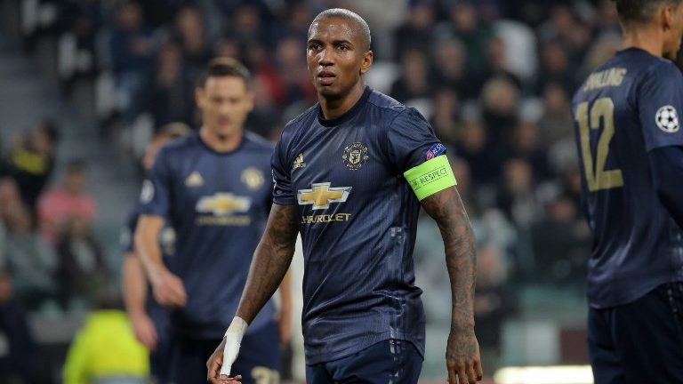 Ashley Young #18 of Manchester United during  the UEFA Champions League group H match between Juventus FC and Manchester United at Allianz Stadium on November 07, 2018 in Turin, Italy. (Photo by Giuseppe Cottini/NurPhoto)