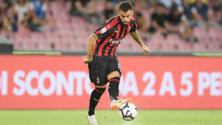 NAPLES, ITALY - AUGUST 25: Suso of AC Milan in action during the serie A match between SSC Napoli and AC Milan at Stadio San Paolo on August 25, 2018 in Naples, Italy.  (Photo by Francesco Pecoraro/Getty Images)
