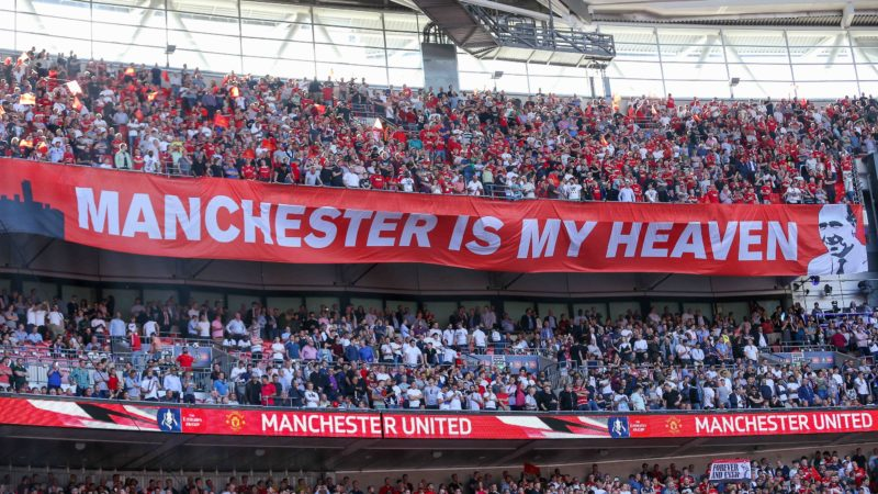 Manchester is My Heaven banner/flag during the English cup, FA Cup Final football match between Chelsea and Manchester United on May 19, 2018 at Wembley Stadium in London, England - Photo Phil Duncan / ProSportsImages / DPPI