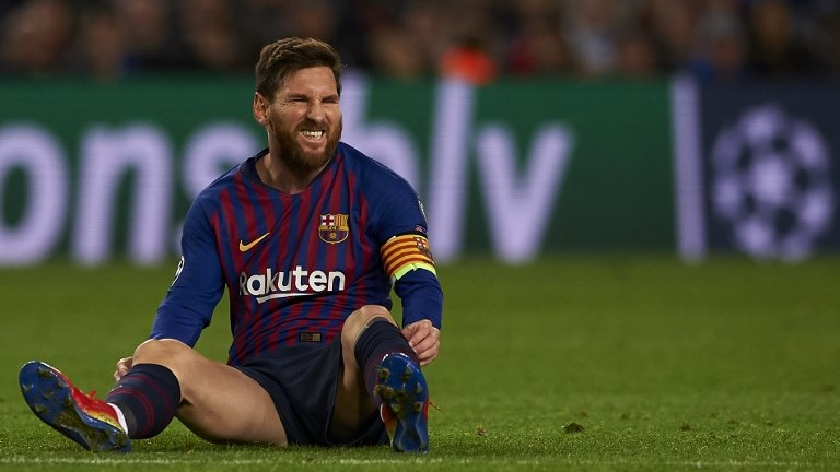 Lionel Messi of Barcelona during the match between FC Barcelona and Tottenham Hotspurs at Camp Nou Stadium in Barcelona, Spain on December 11, 2018. (Photo by Jose Breton/NurPhoto)