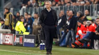 Manchester United head coach Jose Mourinho during the Group H match of the UEFA Champions League between Juventus FC and Manchester United FC on November 7, 2018 at Juventus Stadium in Turin, Italy. (Photo by Mike Kireev/NurPhoto)