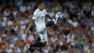 Jeison Murillo of Valencia CF in action during the UEFA Champions League group h match between Valencia CF and Juventus at Mestalla on September 19, 2018 in Valencia, Spain (Photo by Sergio Lopez/NurPhoto)