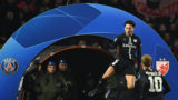 Paris Saint-Germain's Brazilian defender Marquinhos celebrates after scoring a goal during the European Champions League football match Crvena Zvezda Belgrade vs Paris Saint-Germain (PSG) on December 11, 2018 at Rajko-Mitic stadium in Belgarde. (Photo by FRANCK FIFE / AFP)