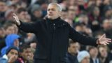 Manchester United's Portuguese manager Jose Mourinho gestures on the touchline during the English Premier League football match between Liverpool and Manchester United at Anfield in Liverpool, north west England on December 16, 2018. (Photo by Paul ELLIS / AFP) / RESTRICTED TO EDITORIAL USE. No use with unauthorized audio, video, data, fixture lists, club/league logos or 'live' services. Online in-match use limited to 120 images. An additional 40 images may be used in extra time. No video emulation. Social media in-match use limited to 120 images. An additional 40 images may be used in extra time. No use in betting publications, games or single club/league/player publications. /