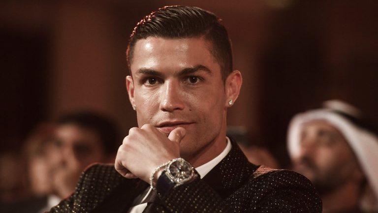 Juventus' Portuguese forward Cristiano Ronaldo attends the 10th edition of the Dubai Globe Soccer Awards on January 3, 2019 in Dubai. (Photo by Fabio FERRARI / La Presse / AFP) / Italy OUT - China OUT