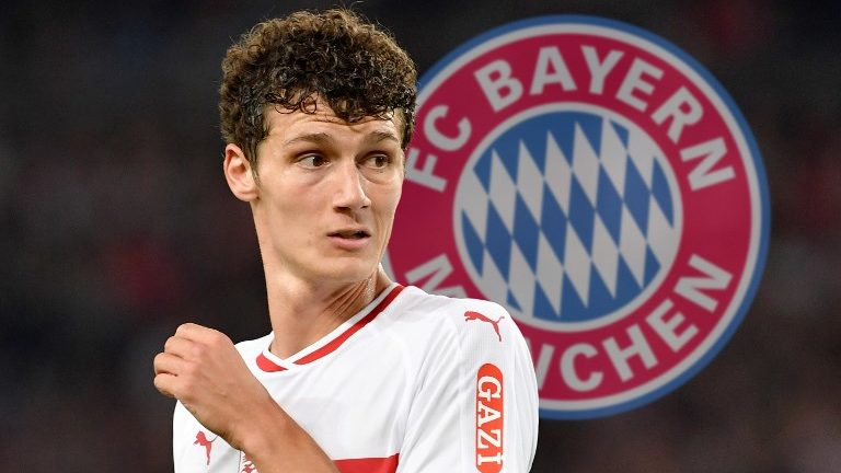 PHOTO INSTALLATION: World champion wants to leave VfB - will Pavard come from VfB Stuttgart to FC Bayern Munich in the winter? Image: Benjamin Pavard (VFB Stuttgart), skeptical, gesture, action, single image, single cut motive, half figure, half figure. Soccer 1. Bundesliga, 4.matchday, matchday04, VFB Stuttgart (S) -Fortuna Dusseldorf (D) 0-0, on 21/09/2018 in Stuttgart / Germany. MERCEDES BENZ ARENA. DFL REGULATIONS PROHIBIT ANY USE OF PHOTOGRAPH AS IMAGE SEQUENCES AND / OR QUASI VIDEO. ¬   usage worldwide