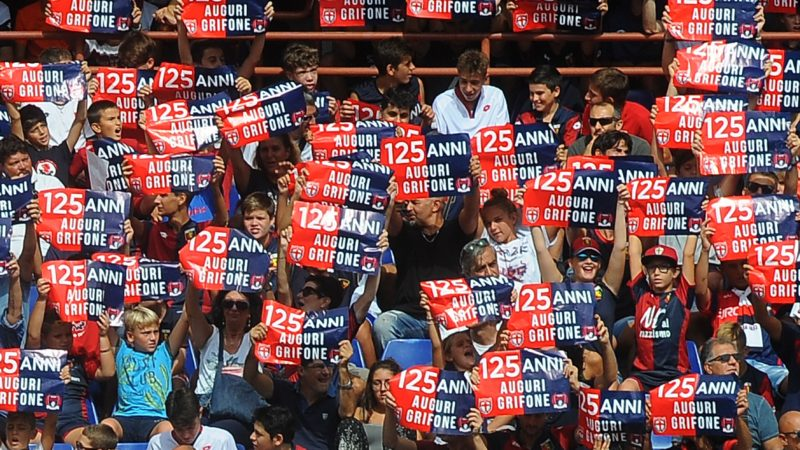 Fans of Genoa CFC the oldest team in Italy celebrate the 125th birthday during the Italian championship Serie A football match between Genoa CFC and Bologna FC on September 16, 2018 at Luigi Ferraris Stadium in Genoa, Italy - Photo Massimo Cebrelli / DPPI