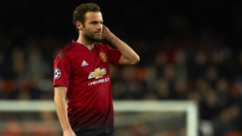 Juan Mata of Manchester United during the match between Valencia CF and Manchester United at Mestalla Stadium in Valencia, Spain on December 12, 2018. (Photo by Jose Breton/NurPhoto)