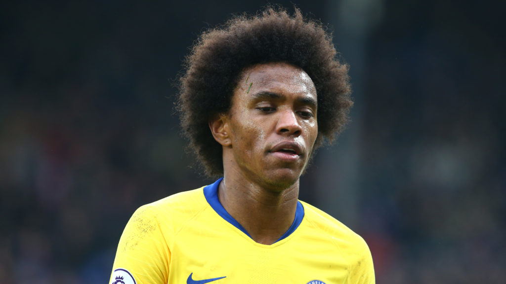 London, England - 30 December, 2018 Chelsea's Willian during Premier League between Crystal Palace and Chelsea at Selhurst Park stadium , London, England on 30 Dec 2018.  (Photo by Action Foto Sport/NurPhoto)
