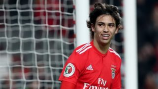 Benfica's Portuguese forward Joao Felix during the Portugal Cup Semifinal first leg football match SL Benfica vs Sporting CP at Luz stadium in Lisbon, on February 6, 2019. ( Photo by Pedro Fiúza/NurPhoto)