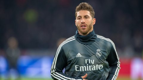 Sergio Ramos of Real during the UEFA Champions League Round of 16 match between Ajax Amsterdam and Real Madrid at Johan Cruyff ArenA in Amsterdam, Netherlands on February 13, 2019 (Photo by Andrew Surma/NurPhoto)