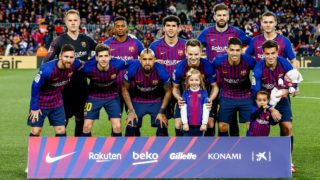 FC Barcelona initial team during the match FC Barcelona against CD Valencia CF, for the round 22 of the Liga Santander, played at Camp Nou  on 2th February 2019 in Barcelona, Spain. (Photo by Mikel Trigueros/Urbanandsport / NurPhoto)